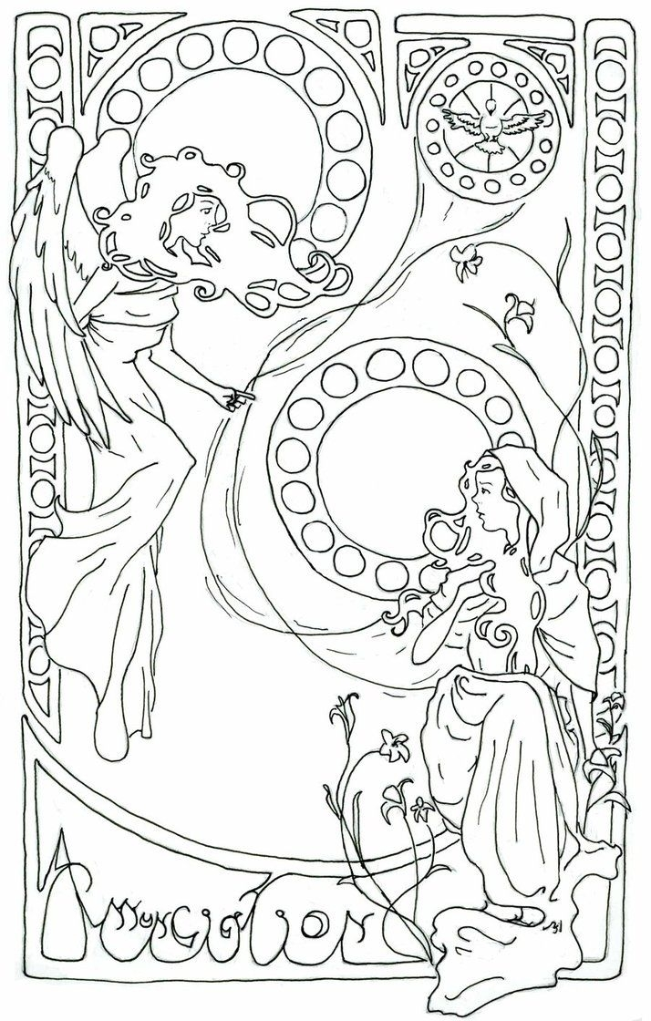 714x1120 Printable Angel Adult Coloring Pages Printable