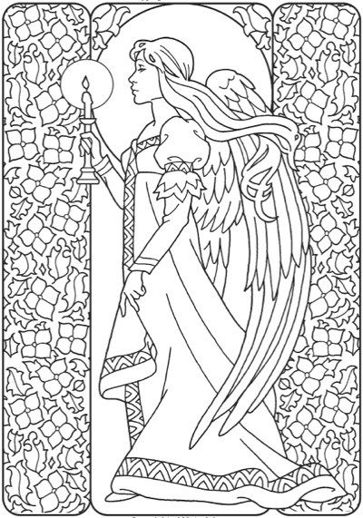400x571 Best Angels Coloring Pages For Adults Images