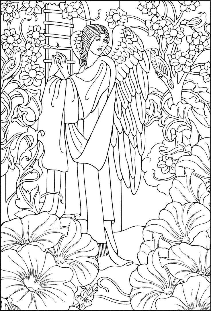 736x1084 Angel Adult Coloring Pages Printable Coloring For Kids