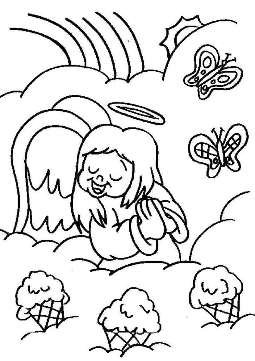 826x1169 Baby Angel Singing Coloring Sheets Free Coloring Pages