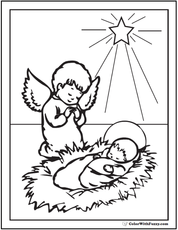 590x762 Christmas Angel Coloring Pages