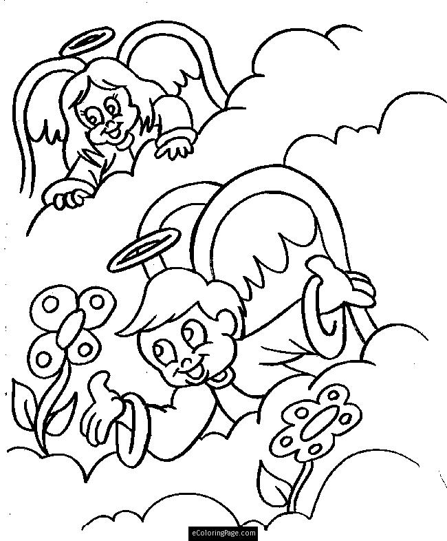 650x786 Coloring Page Angel