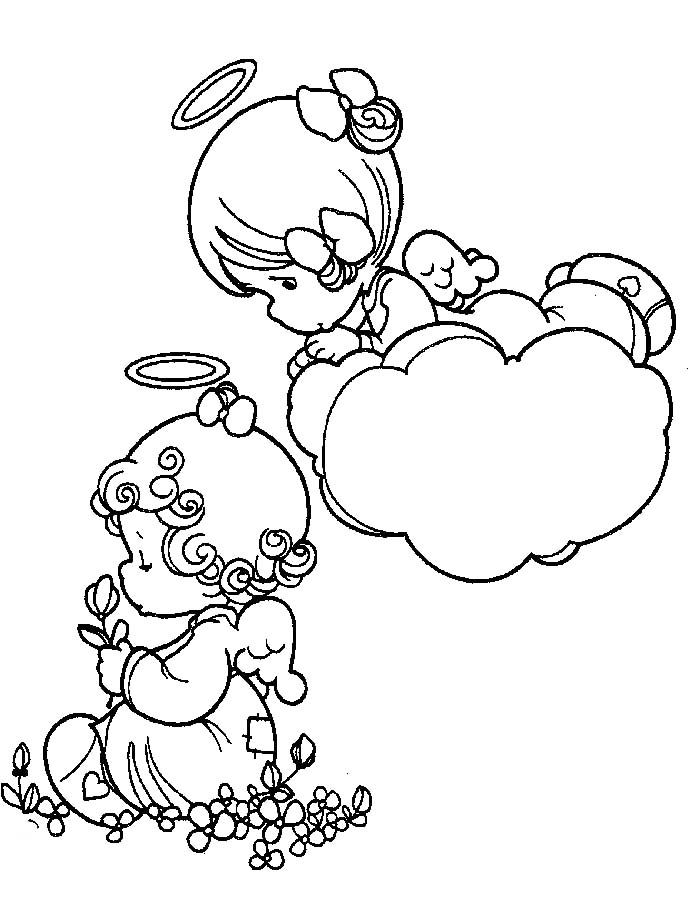 Angel Baby Coloring Pages At Getdrawings Com