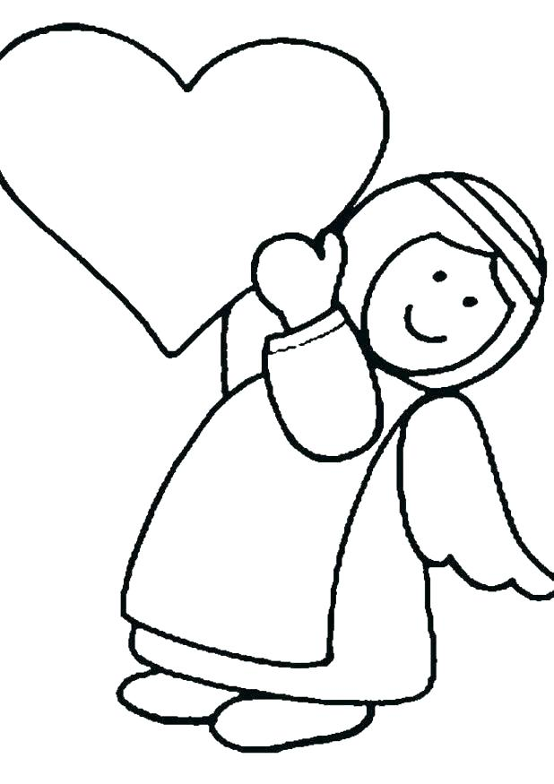 618x875 Free Angel Coloring Pages Unbelievable Design Baby Angel Coloring