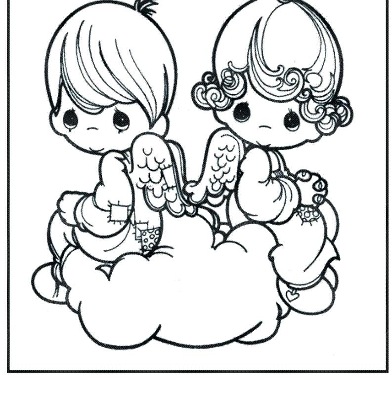 791x800 Free Coloring Pages Online Disney Precious Moments Angels Baby M