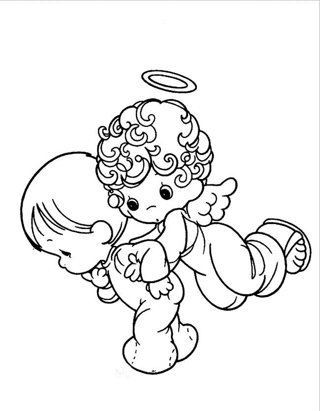 650x833 Precious Moments Angel And Baby Coloring Pages