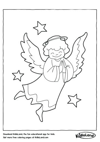 350x495 Angel Coloring Sheet