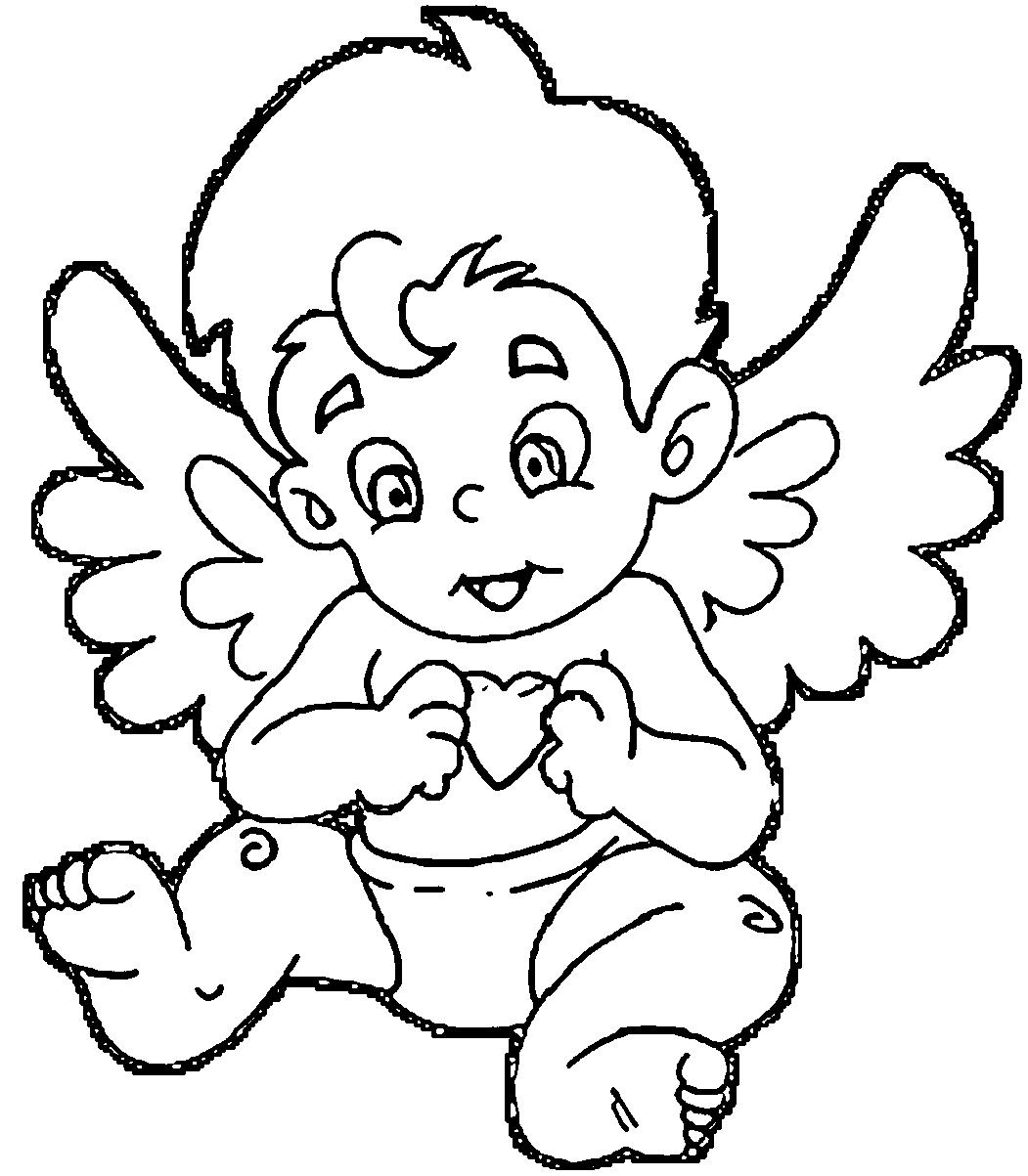 1051x1203 Angel Baby Coloring Pages Coloring Pages