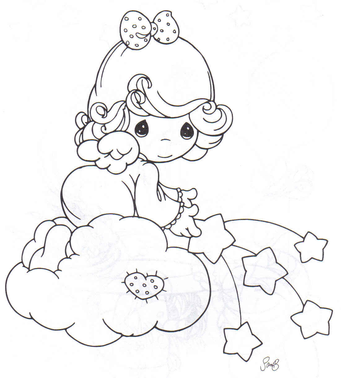 1101x1220 Angel Precious Moments Coloring Pages