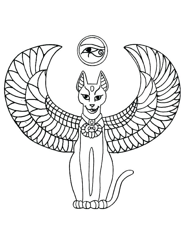 Angel Cat Coloring Pages