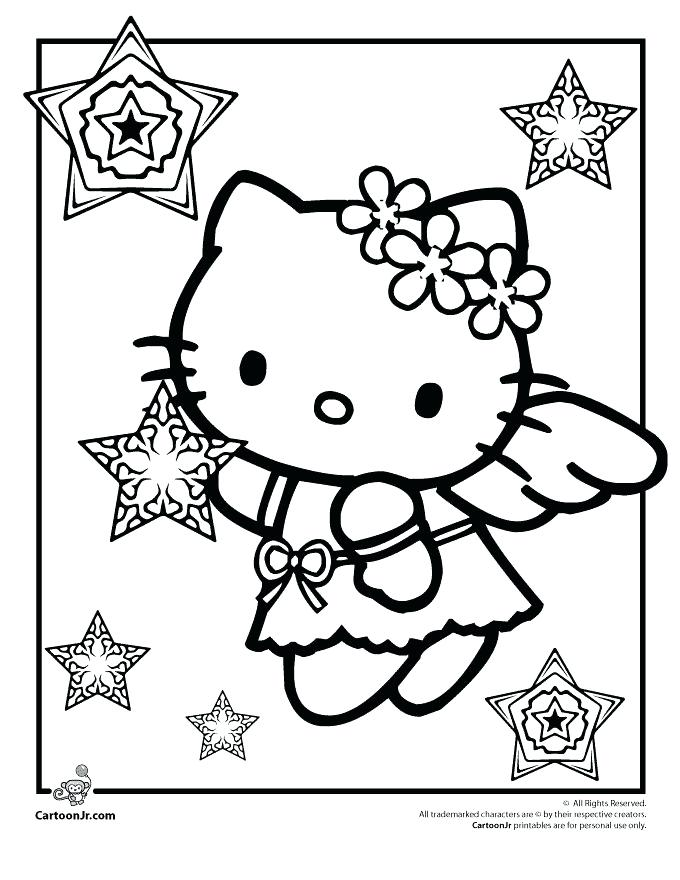 680x880 Christmas Hello Kitty Coloring Sheets Best Images On Snow Angels