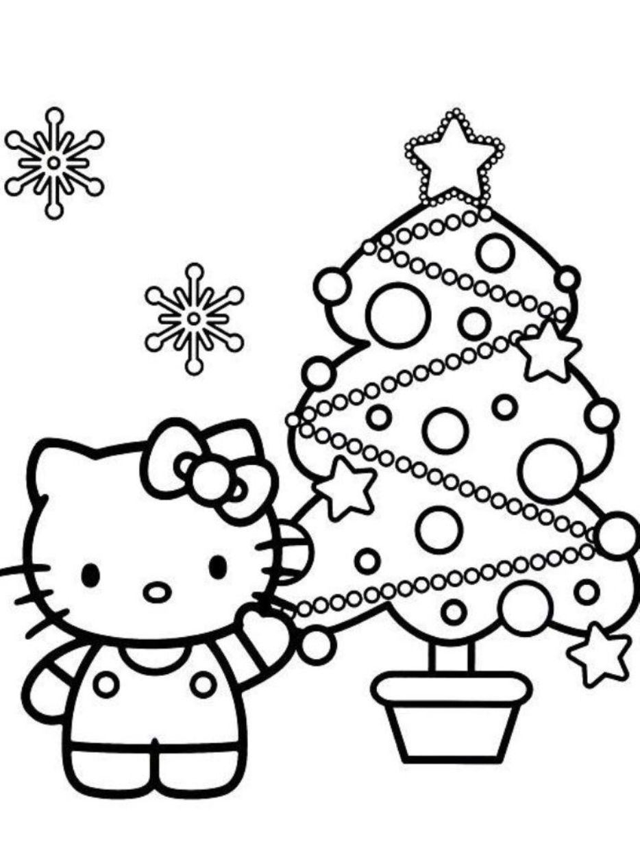934x1260 Hello Kitty Christmas Coloring Pages Angel Colouring