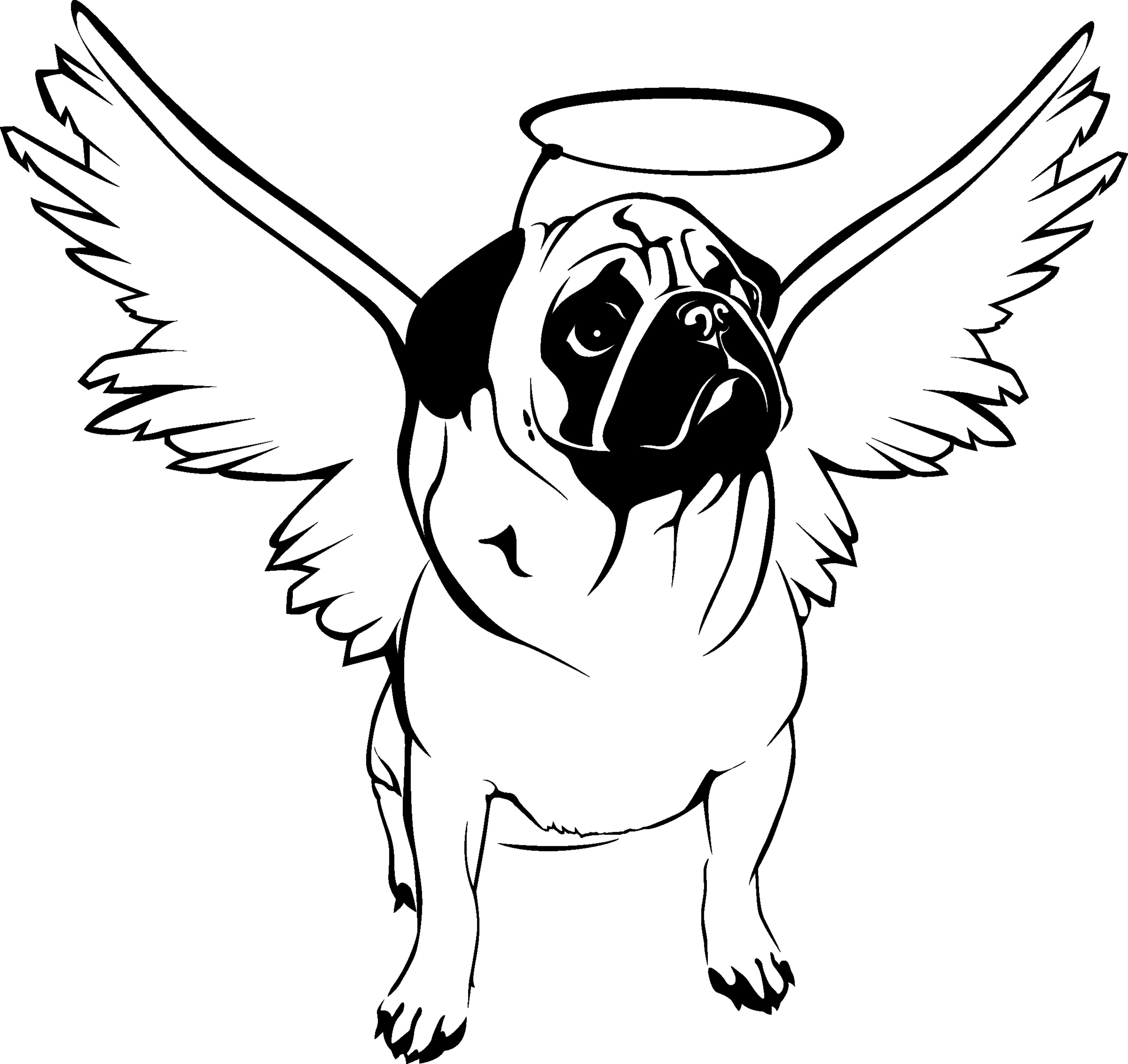 2875x2713 Huge Gift Coloring Pages Of Baby Pugs Pug New Sheets