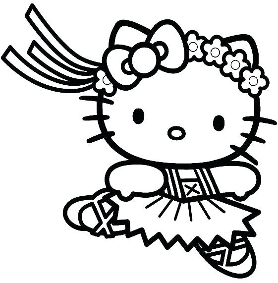 561x571 Kitty Coloring Pages Angel Hello Kitty Coloring Page