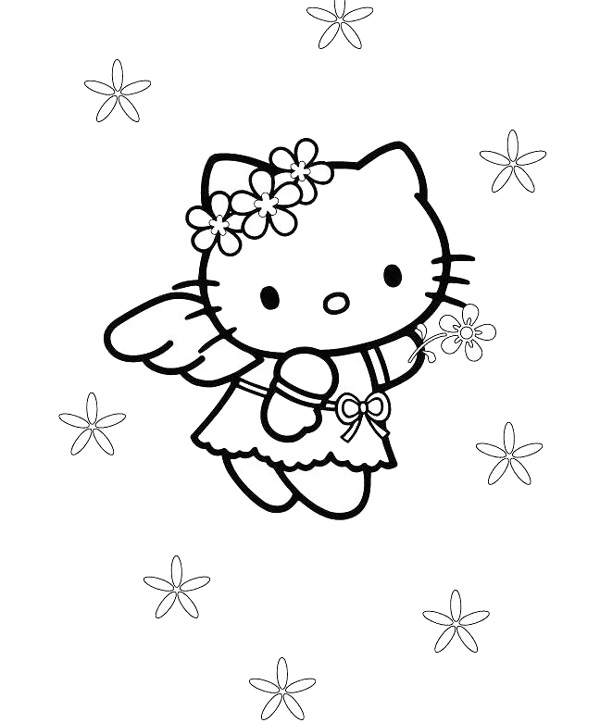 600x723 Top Hello Kitty Coloring Pages To Print