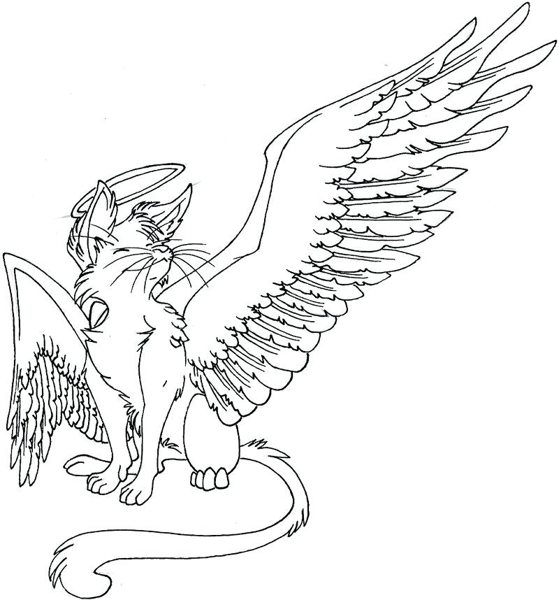 Angel Cat Coloring Pages at GetDrawings.com | Free for ...