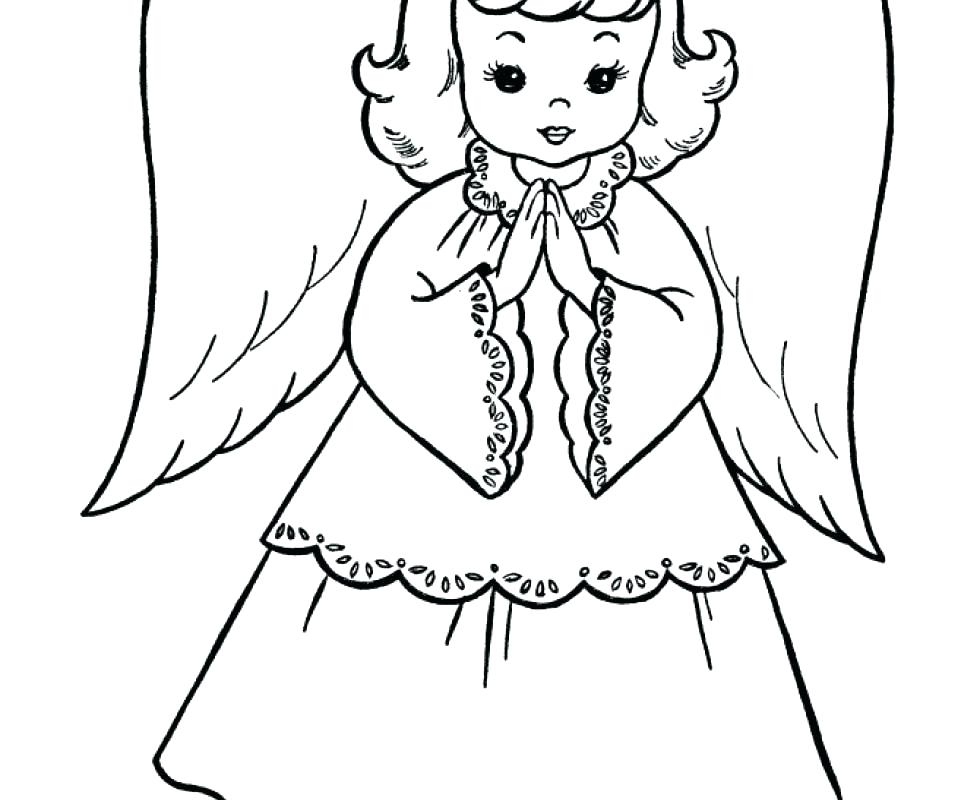 980x800 Angel Coloring Pages For Adults Also Anime Angel Coloring Pages