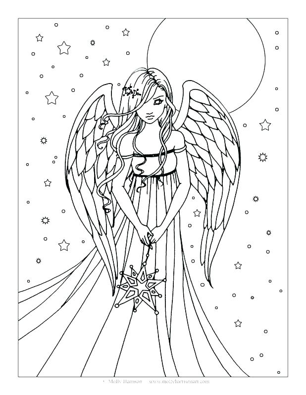618x799 Angel Coloring Pages For Adults Plus Amazing Angel Coloring Pages