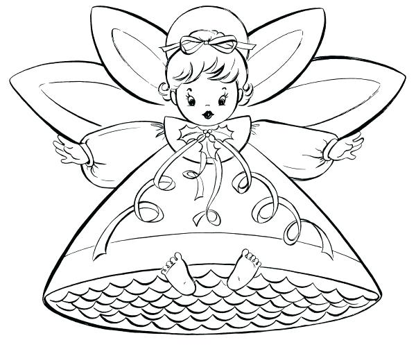 600x500 Angel Coloring Pages For Preschool Medium Size Of Angel Coloring