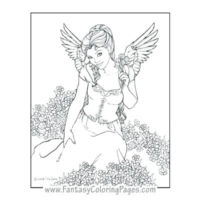 400x400 Angels Coloring Pages Angels Coloring Pages