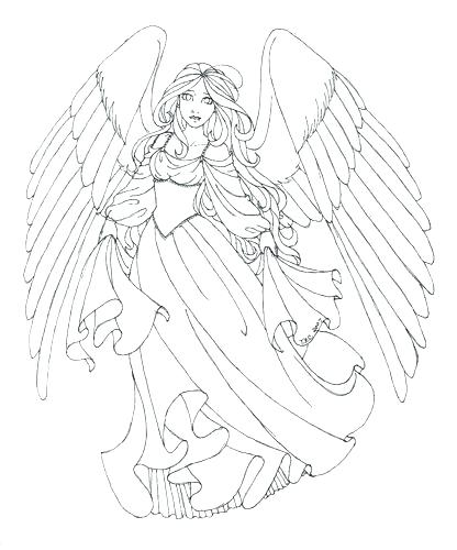 416x500 Free Angel Coloring Pages Perfect Free Printable Angel Coloring