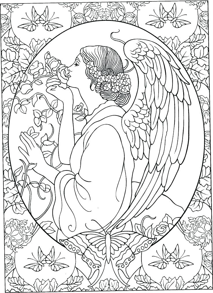 736x1009 Printable Angel Coloring Anime Angel Coloring Page Of Coloring