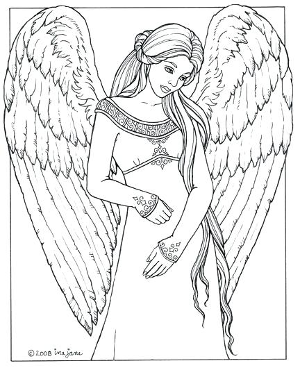 432x533 Printable Angel Coloring Pages For Adults