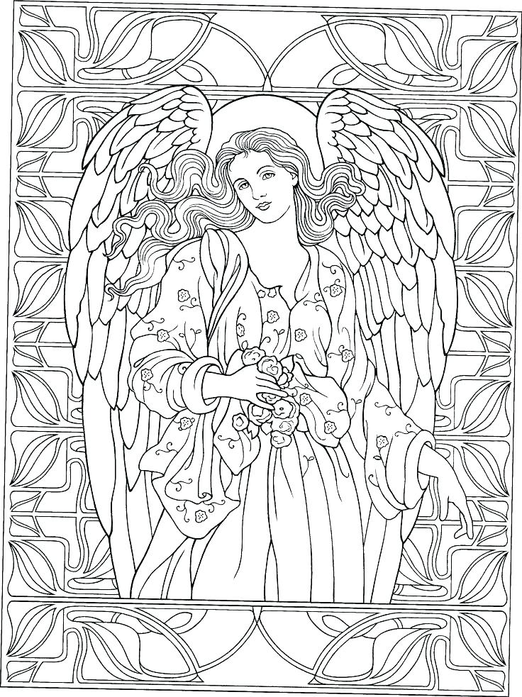 736x983 Angel Coloring Book Angel Coloring Book Also Angel Coloring Pages