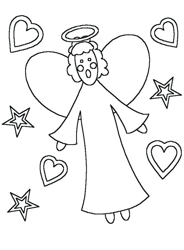 600x815 Angels Coloring Pages Kids Drawing Coloring Pages Angels Kids