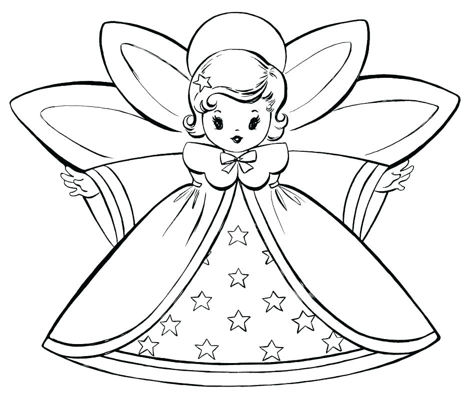948x795 Angels Coloring Pages
