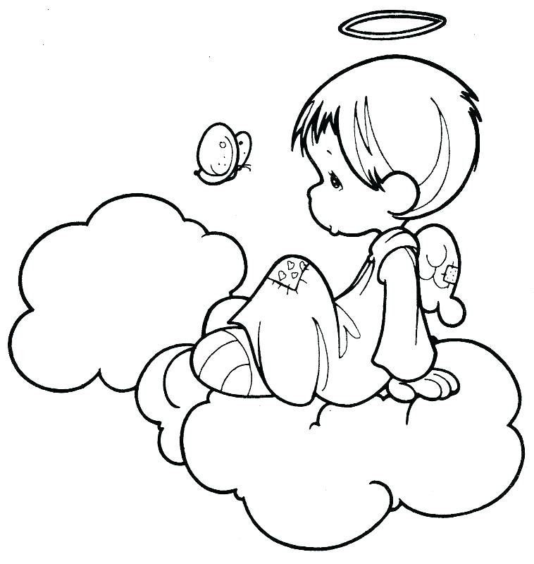758x800 Coloring Pages Of Baby Angels Angel Coloring Pages Printable Angel
