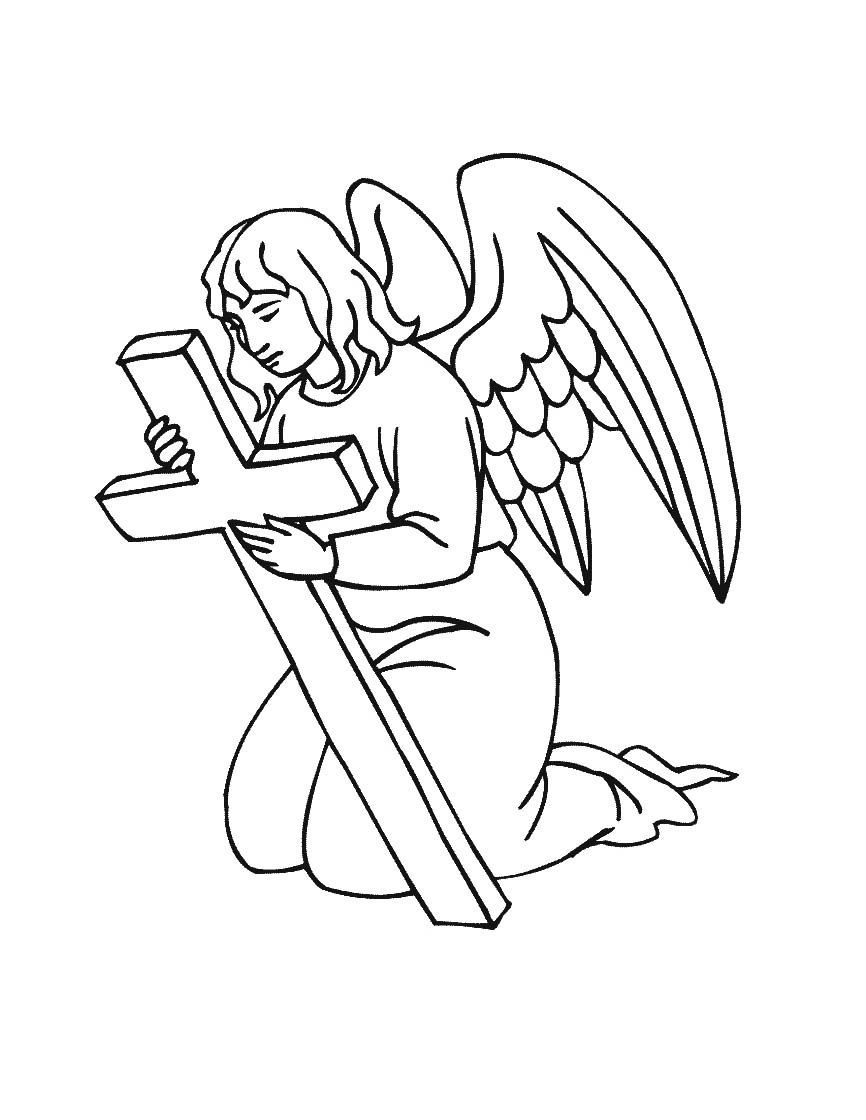 866x1120 Splendid Angel Coloring Pages Free Printable For Kids
