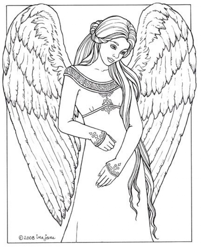 829x1024 Unique Angel Pictures To Color Cool Coloring Sheet Pages Printable