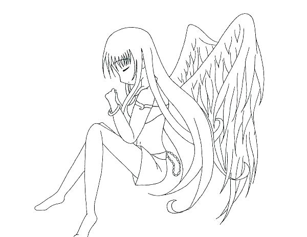 600x463 Angel Coloring Pages Free Printable