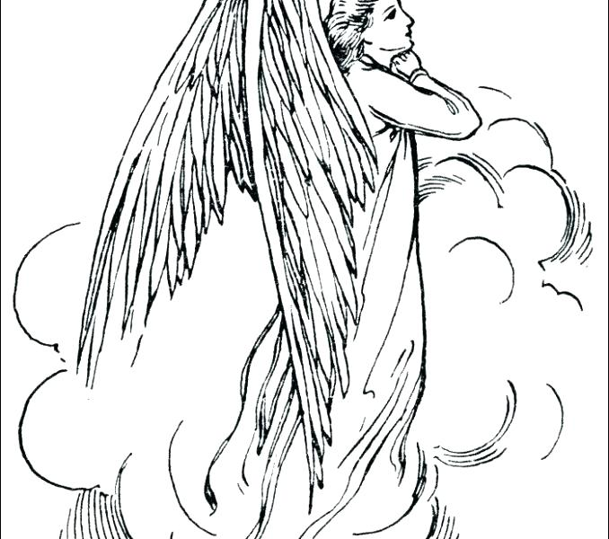 678x600 Coloring Pages Of Angels