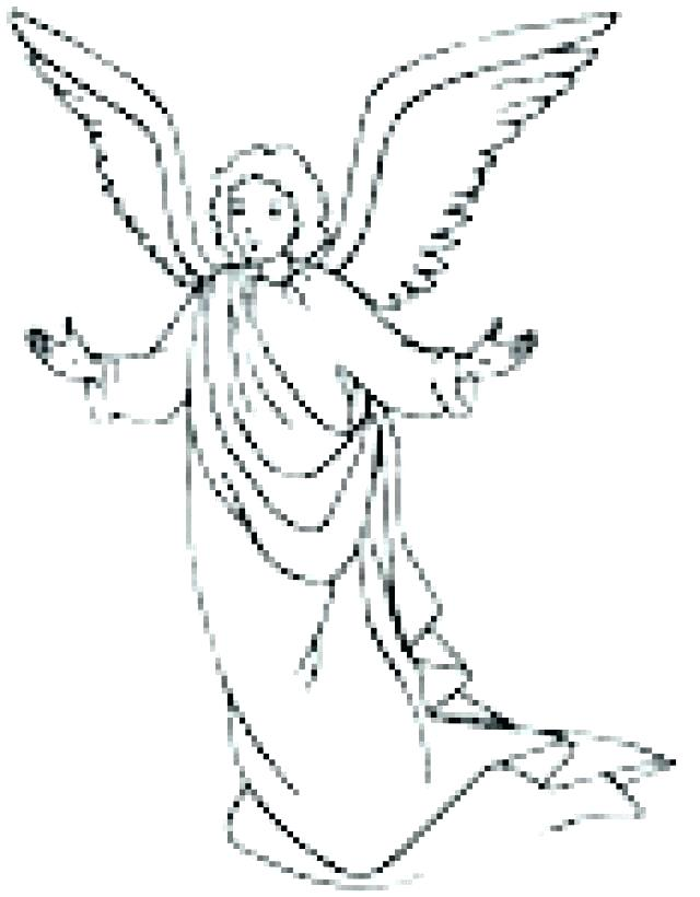 640x820 Angel Coloring Pages Printable Printable Kids Coloring Page Three