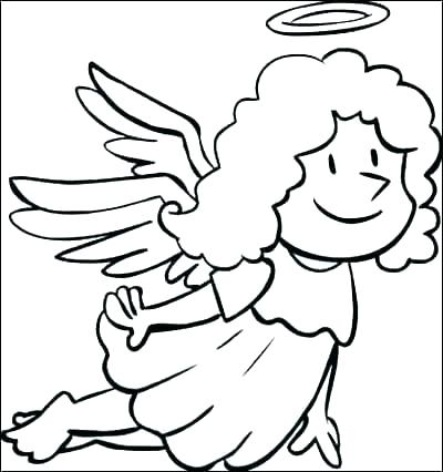 400x426 Angel Colouring Pages Printable Angel Ornaments Coloring Pages