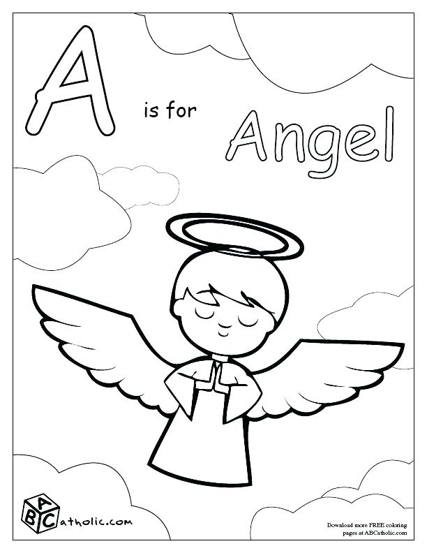 612x792 Angel Coloring Pages For Preschool Angel Colouring Page Angel