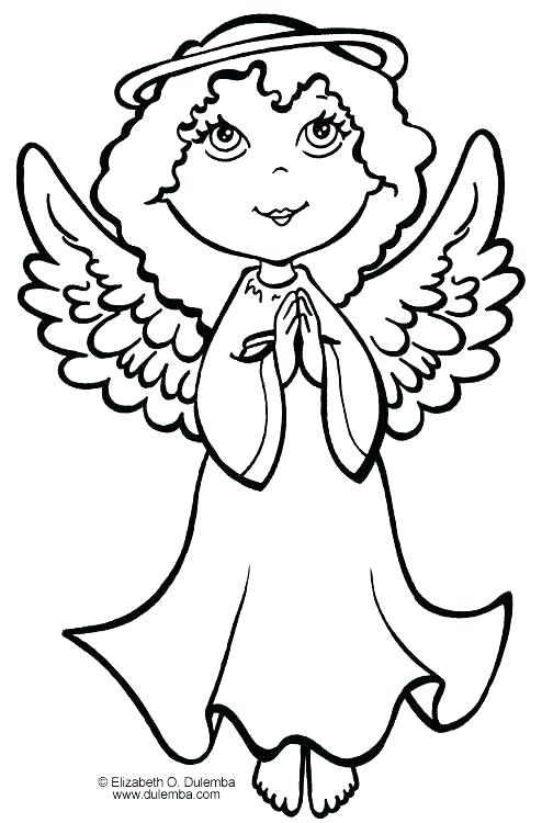 494x750 Angel Coloring Pages For Preschool Angels Coloring Pages Angel