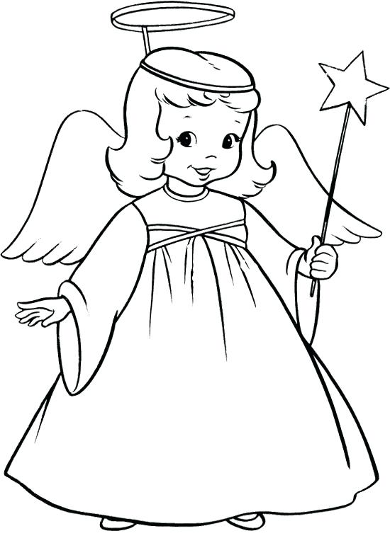 550x767 Angel Coloring Pages For Preschool Spectacular Angels Coloring