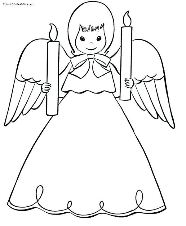 600x727 Angels Coloring Pages Free Angel Coloring Pages Cute Angel Angel