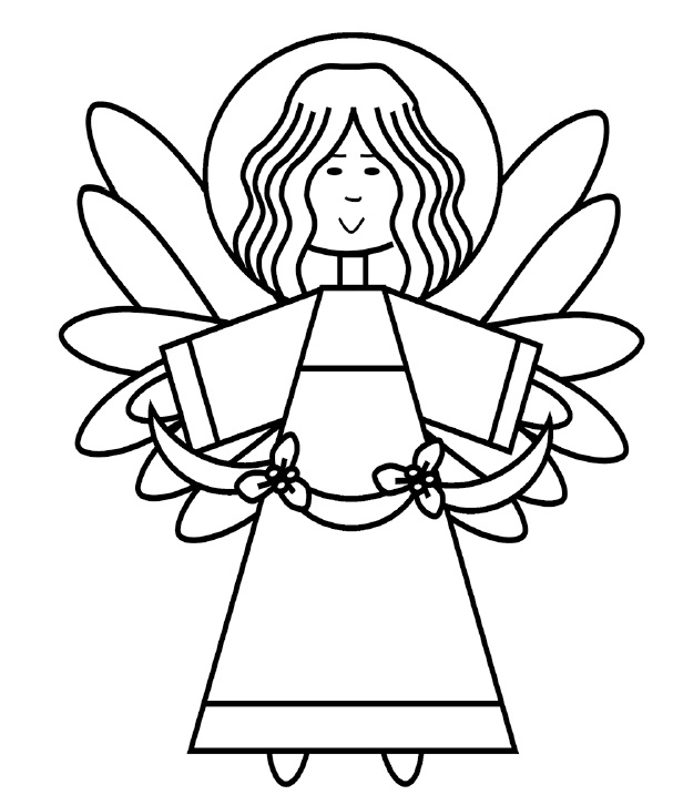 607x717 Angel Coloring Page