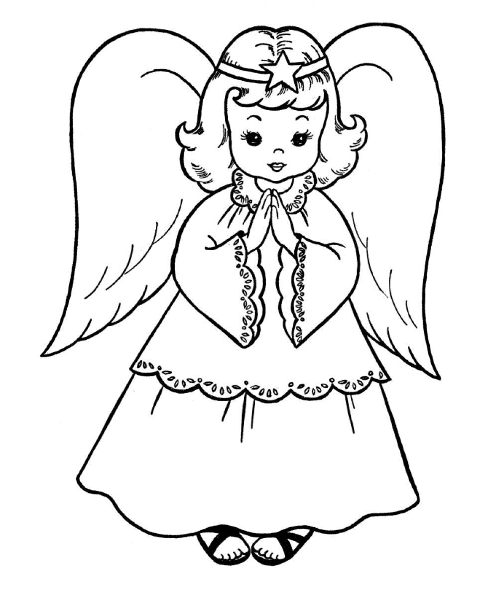 980x1200 Fresh Angel Coloring Pages To Print Printable Adults For Kids