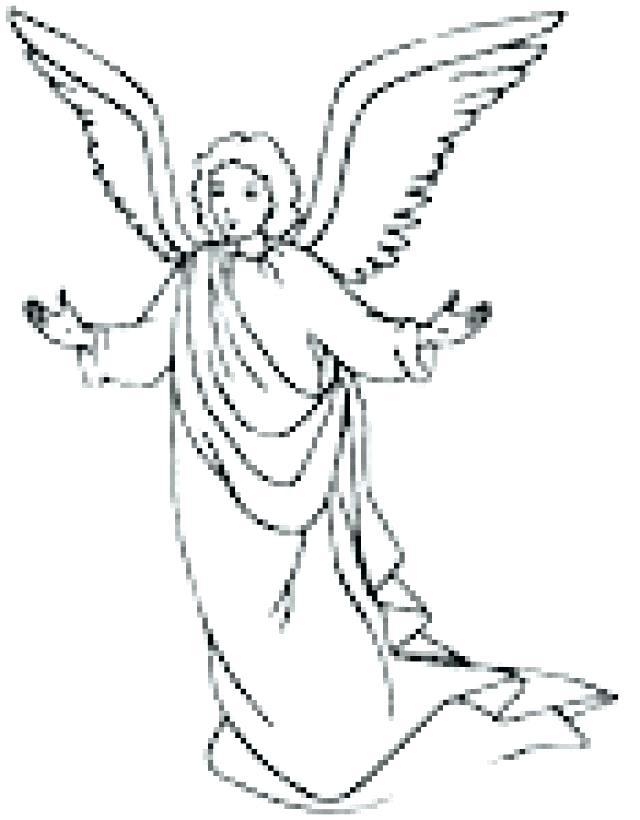 640x820 Angel Coloring Page Angel Coloring Page Angel Color Pages