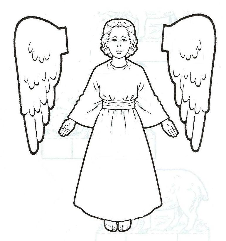 770x821 Preschool Angels Coloring Pages Print Coloring Pages