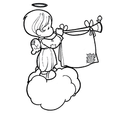 230x230 Top Free Printable Cheerful Angel Coloring Pages Online