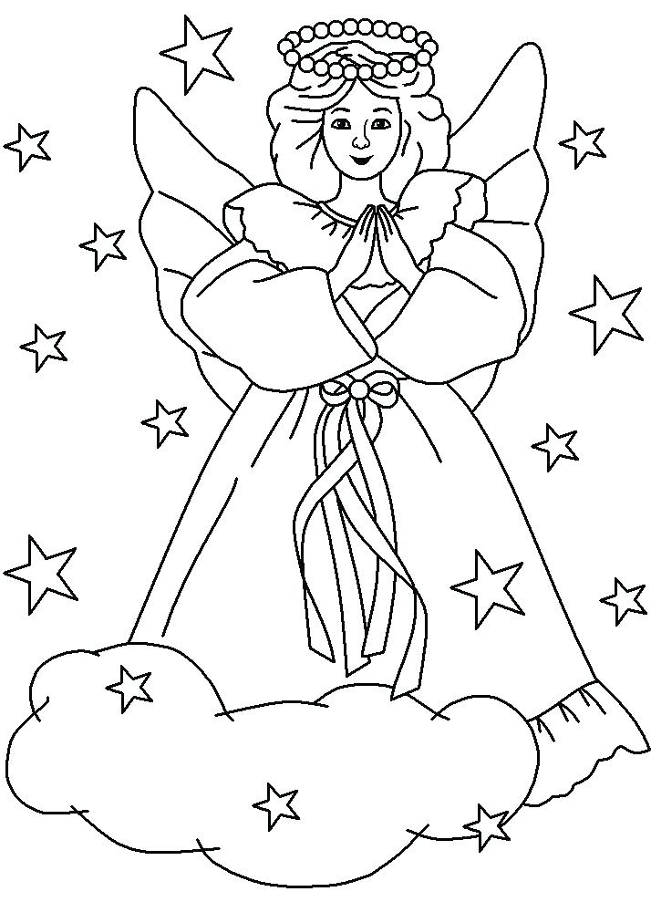 714x989 Angel Coloring Pages For Preschool