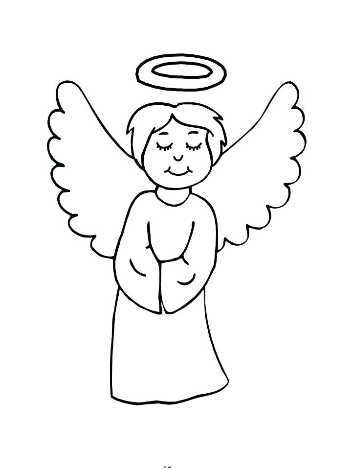 720x960 Angel Coloring Pages For Preschool Angel Closing Eyes Kids Pages