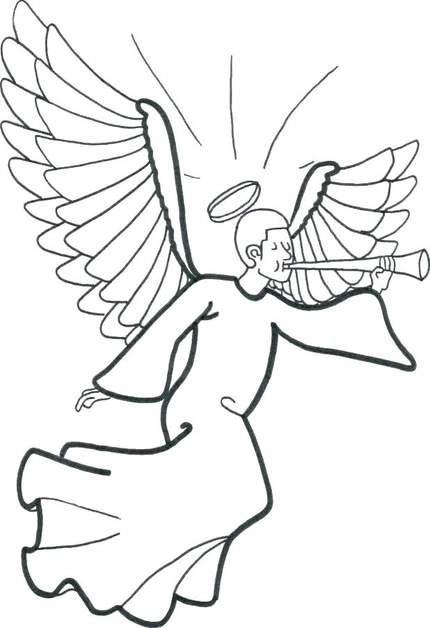 618x902 Angel Coloring Pages For Preschool Angel Coloring Page Angel