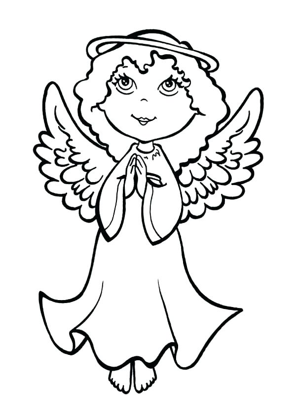 600x849 Angel Coloring Pages For Preschool Angel Coloring Pages An Angel